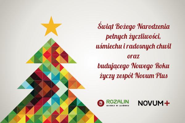 Wesołych Świąt życzy Novum Plus