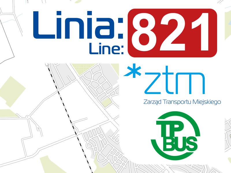 Bezpośrednie połączenie linią autobusową nr: 821 - Osiedle Rozalin