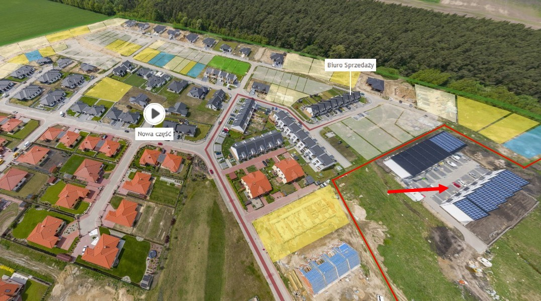Mapka Osiedla Rozalin - inwestycja Novum Plus sp. z o.o.